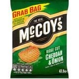 Bulk Buy McCoys Grab Bag Ridge Cut Cheddar and Onion 26 x 47.5g