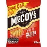 Bulk Buy McCoys Grab Bag Salted Ridge Cut Potato Chips 26 x 47.5g