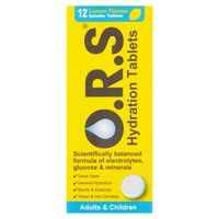 O.R.S Lemon Hydration Tablets 12
