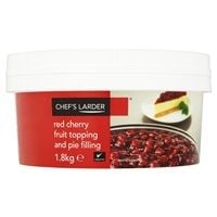 Catering Size Chefs Larder Red Cherry Fruit Topping and Pie Filling 1.8kg