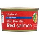 Sainsbury's Alaskan Pacific Red Salmon No Added Salt 212g