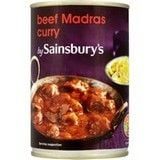 Sainsbury's Beef Madras Curry 400g