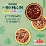 Sainsburys Deliciously Freefrom Pecan Tarts x4