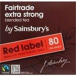 Sainsbury`s Extra Strong Red Label 80 Teabags