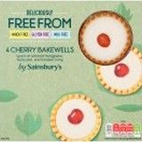 Sainsburys Deliciously Freefrom Cherry Bakewells Tarts x 4