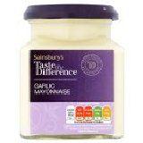 Sainsbury's Garlic Mayonnaise Taste The Difference Jar 230g