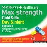 Sainsburys Max Strength Day and Night Capsules 16