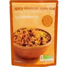 Sainsbury's Microwave Rice Spicy Mexican 250g