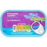 Sainsbury's Sardines in Spring Water 120g