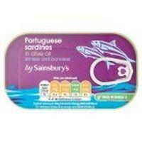 Sainsbury's Sardines Skinless & Boneless in Olive Oil 120g