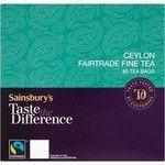 Sainsbury's Ceylon Round Tea Taste the Difference 80 Tea Bags