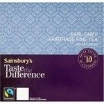 Sainsbury's Earl Grey Round Tea Taste the Difference x 100 Tea Bags