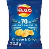 Bulk Buy Walkers Cheese and Onion 32 x 32.5g