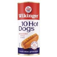 Catering Size Wikinger 10 Hot Dogs Bockwurst Style in Brine 1650g
